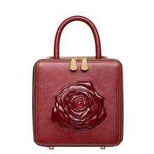 สุภาพสตรีกระเป๋าดอกไม้กุหลาบผู้หญิงกระเป๋าหนังหนังแท้สบายกระเป๋าแฟชั่นที่เรียบง่ายถุงเล็กๆ