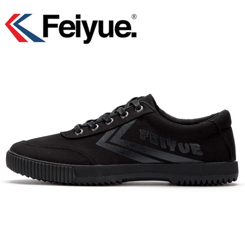 Feiyue Black Sneakers Men Women Shoes Classic Retro Shaolin Soul Series Of Genuine Version Canvas Shoes