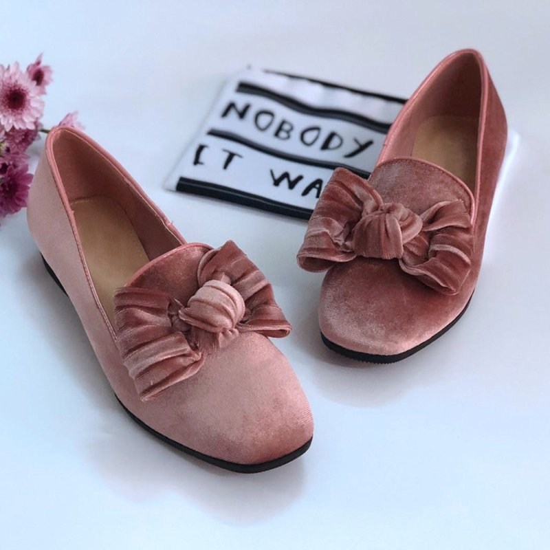 цены Bailehou Women Flats Shoes Slip On Loafers Suede Women Casual Shoes Butterfly Knot Flat Ballet Shoes Flock Platform Chaussure