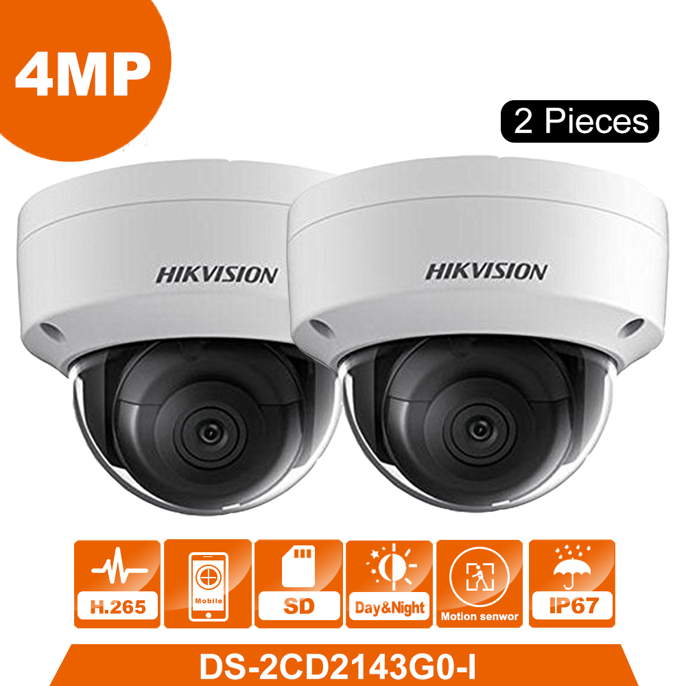 2pcs Original HIKVISION DS-2CD2143G0-I 4MP Network Dome Camera Security System upgrade DS-2CD2142FWD-I ship from Moscow