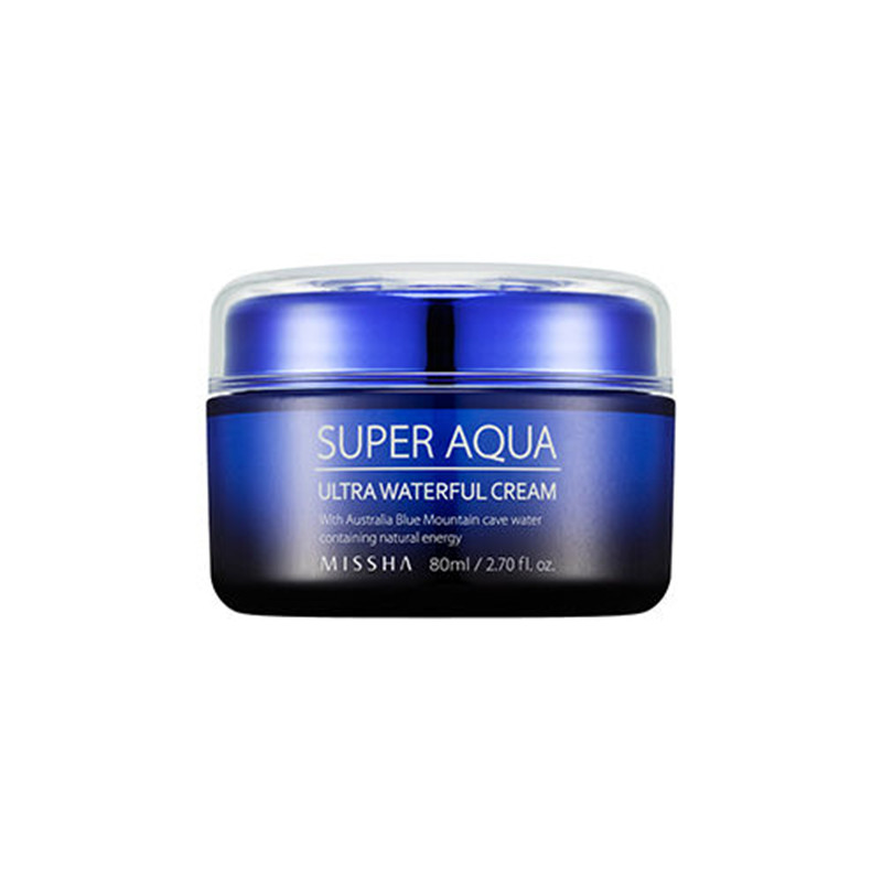 Missha Super Aqua Ultra Waterful Cream 80ml Face Moisturizer Whitening and Moisturizing Korea Cosmetic missha super aqua refreshing cleansing foam объем 200 мл