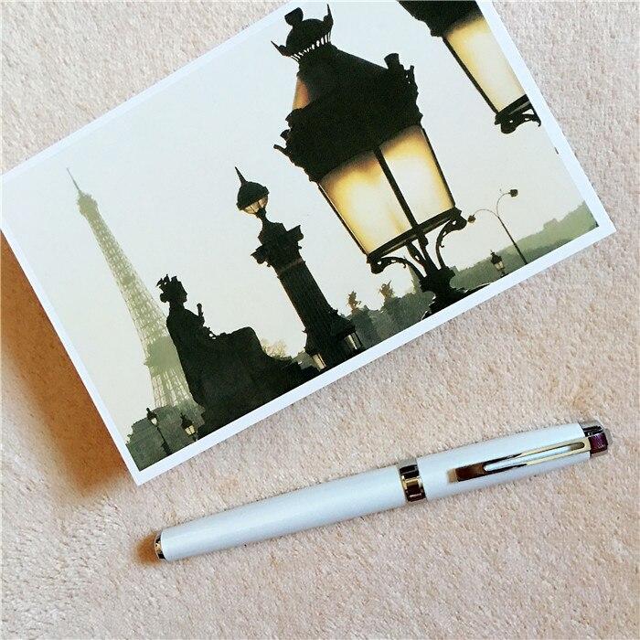 white ZY ballpoint Pen and pen bag School Office Stationery roller ball pens men women business birthday gift send a refill 041