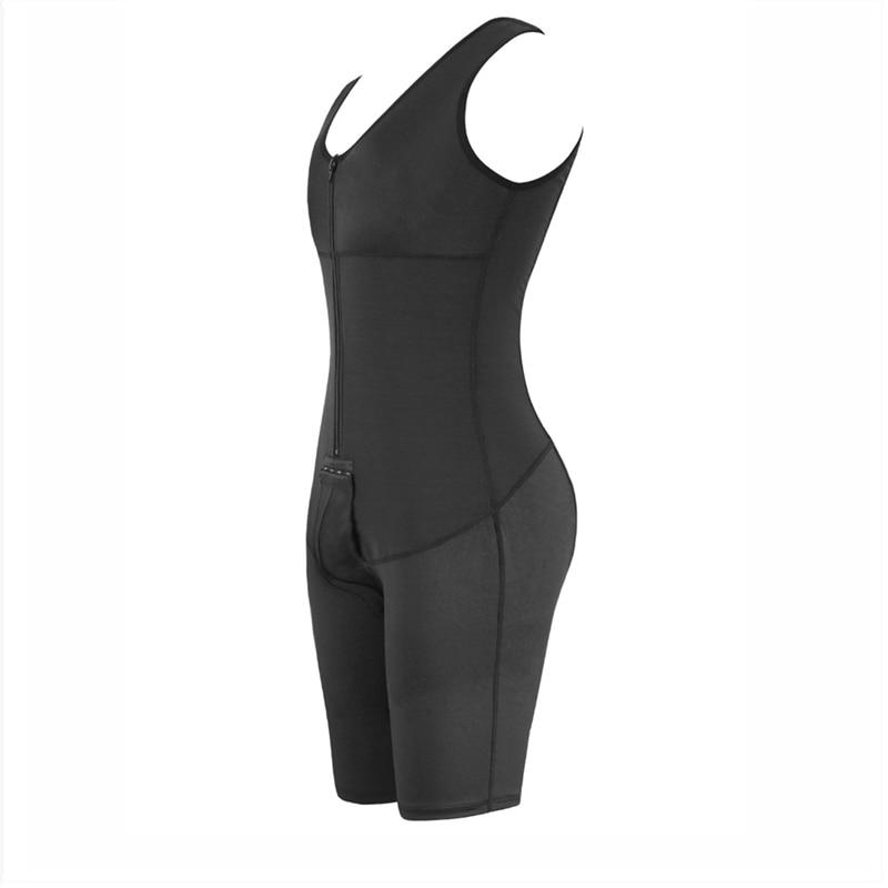 Sexy Black Body Shaper for Men Open Crotch Big Size Butt Lifter Waist Trainer Bodysuit Zipper Abdomen 6XL Shapewear Dropshipping