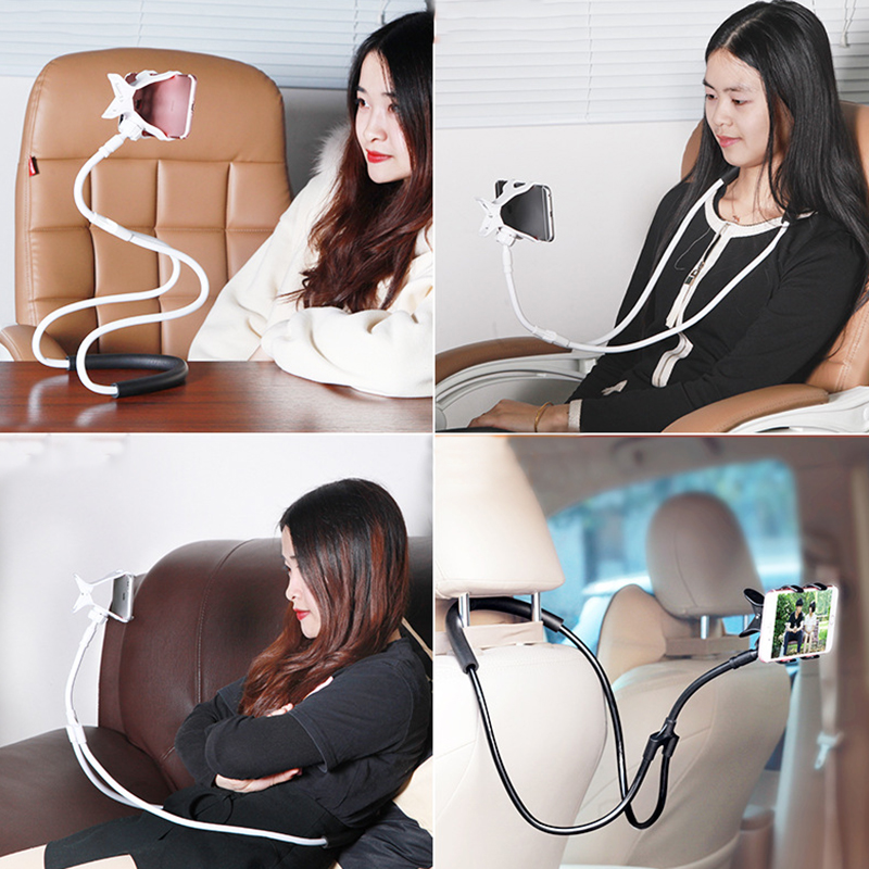 2019 New Universal Lazy Bracket Phone Selfie Holder Snake-like Neck Bed Mount Anti-skid 360 Degree Rotation Flexible Stand
