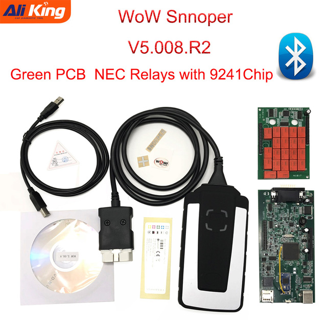 US $31 83 5% OFF|Green PCB WOW Snooper with Wurth 5 008 R2 software  Bluetooth OBD2 Scanner WoW New TCS CDP pro diagnostic tool for car and  truck-in
