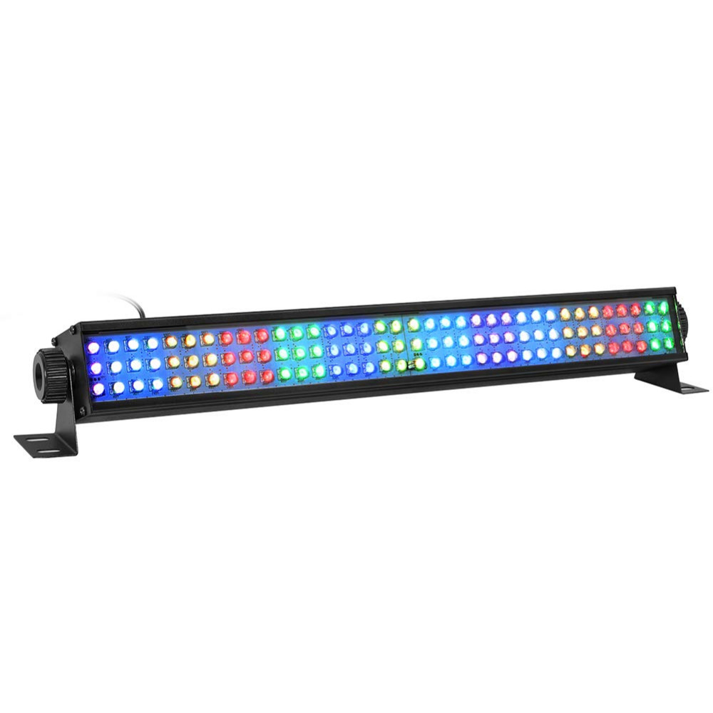 25W Wash Lights RGB Led Stage Lights 108 Led Light Bar 8 Channel and 12 Channel by DMX 512 and Sound Activated for Club Disco 25W Wash Lights RGB Led Stage Lights 108 Led Light Bar 8 Channel and 12 Channel by DMX 512 and Sound Activated for Club Disco