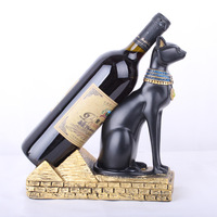 Resin Egypt Cat God Wine Fortune Fortune Statue Animal Decoration Crafts Wine Rack Accessories Home Decoration