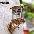 Retro outdoor waterproof wall lights antirust E27 wall lamp garden villa gateway courtyard backyard corridor lighting fixtures