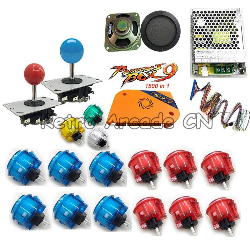 Arcade DIY kit with Pandora box 9 arcade version 1500 in 1 motherboard copy sanwa OBSC