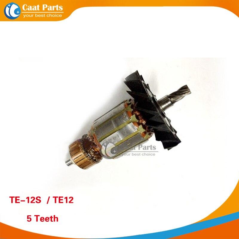 Free shipping! AC 220V 5 Teeth Drive Shaft Electric Hammer Armature Rotor for HILTI TE-12S TE12, High quality ! долото острое hilti te yp sm 50