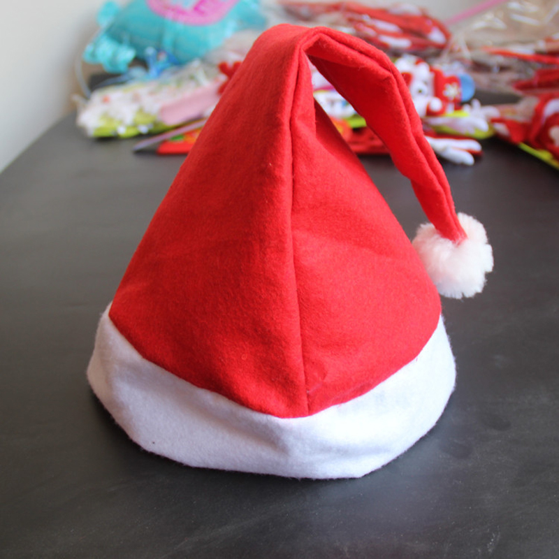 Nonwoven Santa Claus Hat Children Holiday Party Cap Children's Toys Decorations Red Hat For Adult Children's Decoration