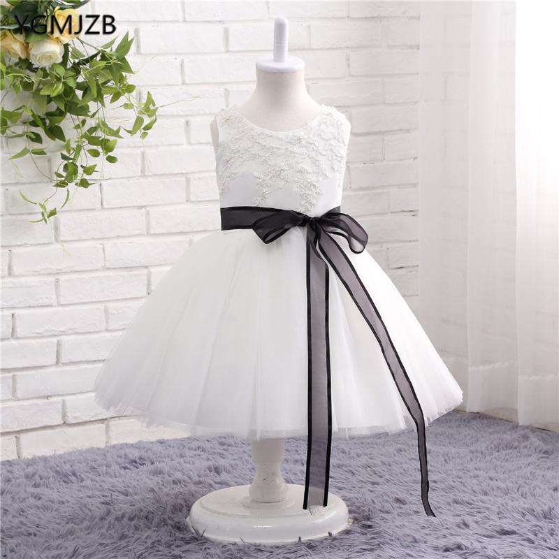 Flower     Girl     Dresses   for Weddings White Lace Tulle Ball Gown First Communion   Dresses   kids Prom   Dresses   Birthday Party   Dresses