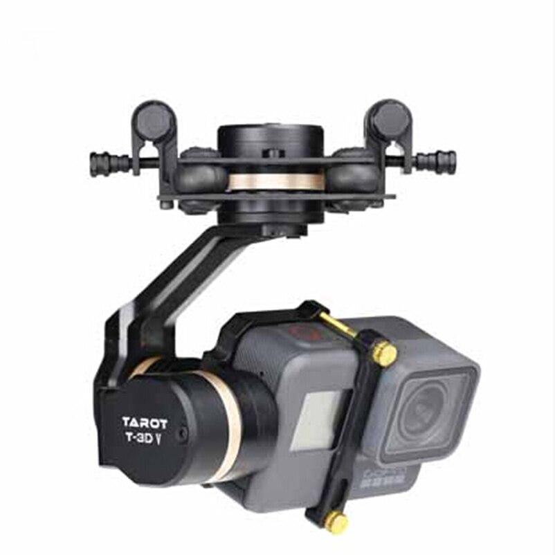 Tarot 3D V métal 3 axes PTZ cardan pour Gopro Hero 5 stabilisateur de caméra TL3T05 pour caméra Sport Action système FPV