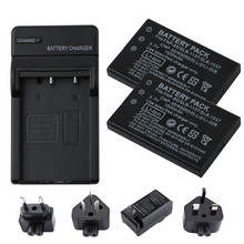 цена на RP 2Pcs 1500mAh FNP-60 NP60 Battery +USB LCD Charger for Fujifilm NP-60 Kodak KLIC-5000 Samsung SLB-1137 Olympus LI-20B Battery