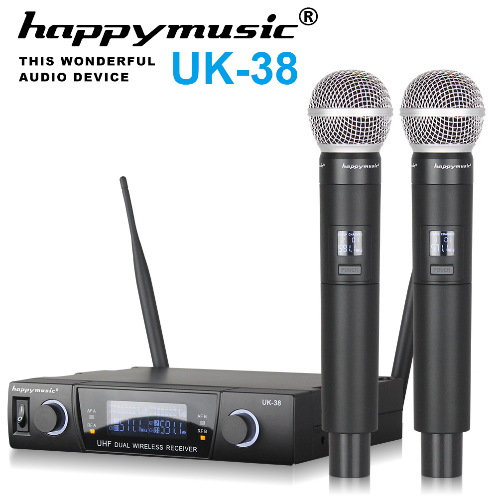 buy high quality professional dual wireless microphone system stage. Black Bedroom Furniture Sets. Home Design Ideas