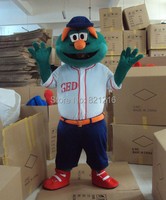 Green Monster Elmo Mascot Costume Adult Character Costume Mascot As Fashion Cosplay