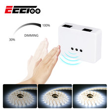 EeeToo Hand Sweep Sensor Switches Dimmable LED Strip for Kitchen Motion Under Cabinet Night Light Hand Wave Control Switches(China)
