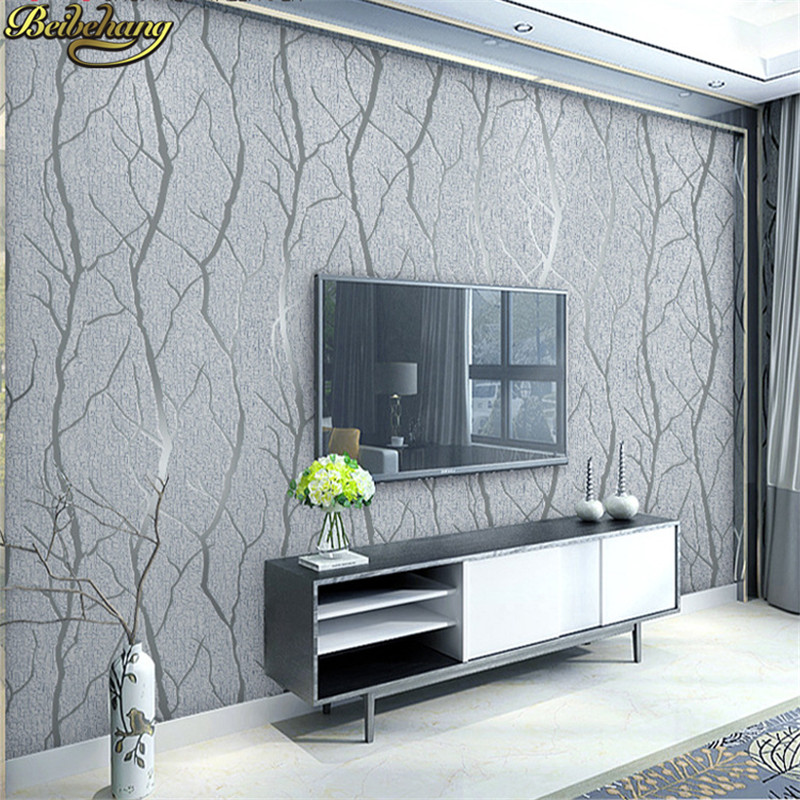 Beibehang Deerskin branche rayures papier peint rouleau Europe moderne en relief salon papier peint pour mur papier chambre