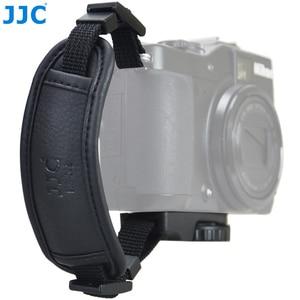 Image 2 - JJC skórzany pasek na rękę DSLR pasek w stylu vintage lustra uchwyt do aparatu na rękę szybki montaż dla NIKON D80 D300 D5200 i aparaty systemowe CANON EOS 450D