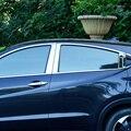 Для Honda HRV 2014 до 2016 нержавеющая сталь оконная планка Защитная крышка стеклянные полоски B + C центральный столб автомобильные аксессуары 8 шт