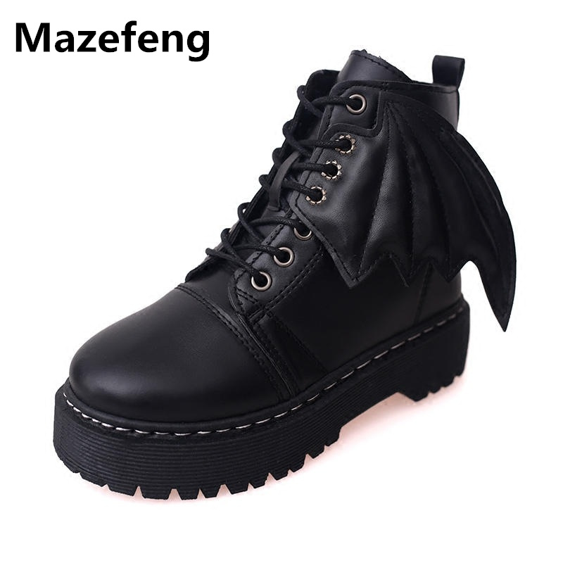 Spring Autumn Little Devil Boots Women All-Match Martin Boots Casual Shoes Woman Cool Zapatos Mujer X096 Bota Feminina spring and autumn new pattern martin boots flat bottom casual shoes woman s