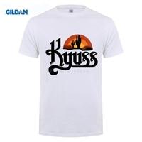 GILDAN 100 Cotton O Neck Customised T Shirt Summer Cotton T Shirts Kyuss Logo Metal Rock