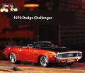 1:24 Maisto 1970 Dodge Challenger R/T Orange Diecast Model Fast & Furious Character Car Without Light & Sound Car Kids Toys