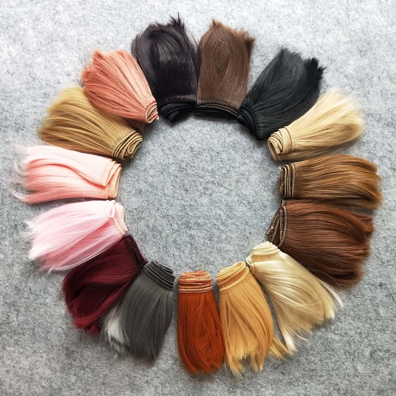 100PCS Wholesale Synthetic Fiber DIY Doll Hair For Doll Wigs