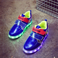 2017 New 2.3 Styles Led Shoes For Children Lace Luminous Sneakers boys girls USB Charging Light Up kids Glowing Led Sport Shoes