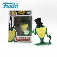 Funko POP Animation: Looney Tunes Michigan J. Frog 2017 Spring Convention Toy Singing Frog Hand Action Figure Model Toy for Fans купить дешево онлайн