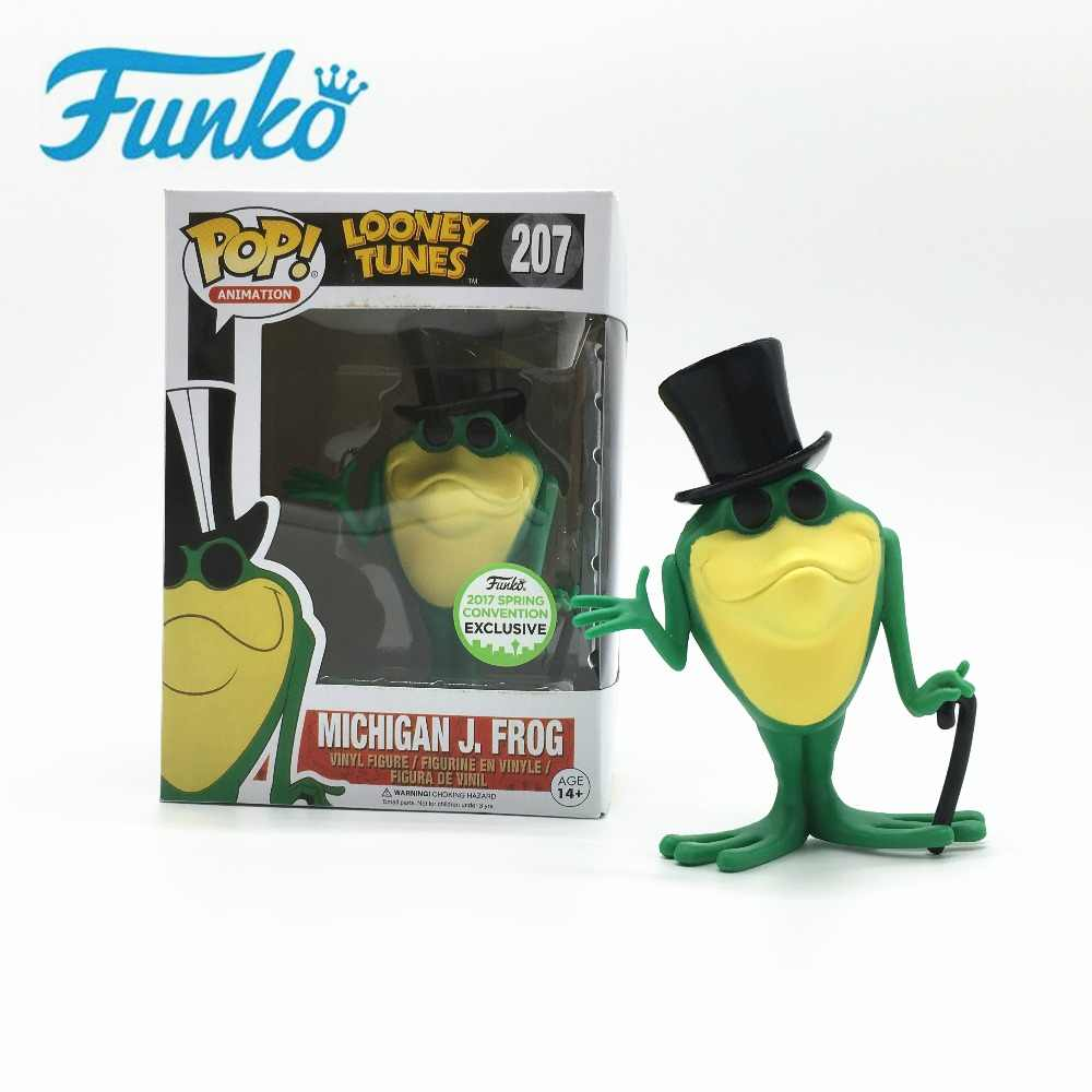Funko pop animação: looney tunes michigan j. frog 2017 primavera convenção brinquedo cantando sapo mão figura de ação modelo de brinquedo para fãs