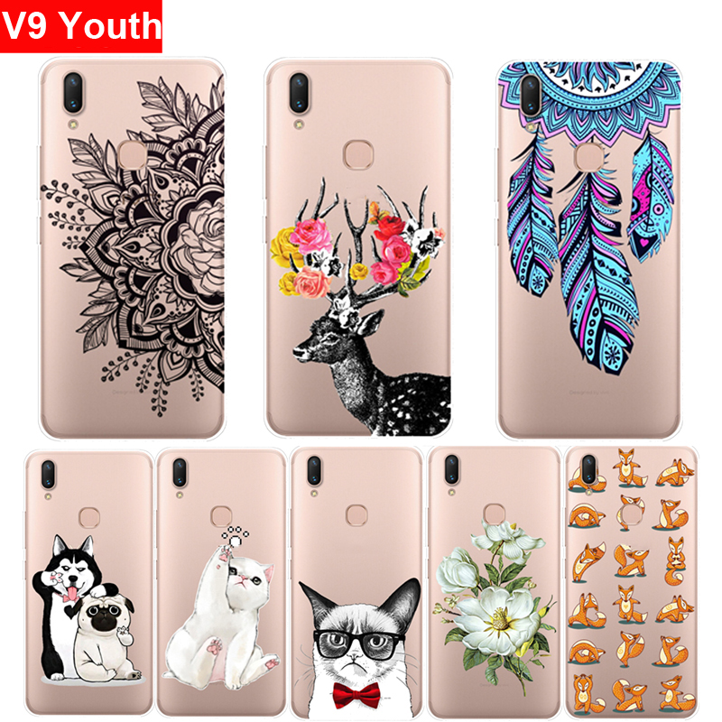 Case For Vivo V9 Youth Cover Bumper Transparent Protective Back Slim Soft TPU Silicon Cover For Vivo V 9 Youth V9Youth Cases
