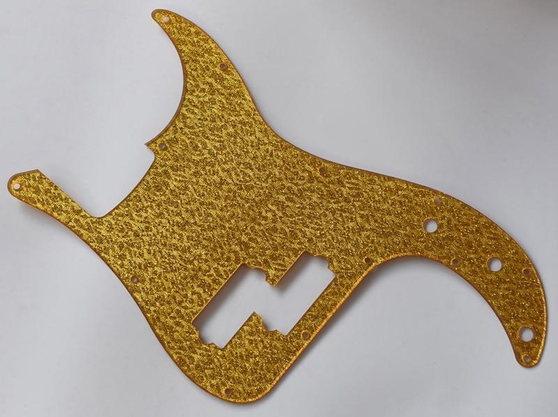 Gold Sparkle P Bass Precision Bass Pickguard Scratch Plate for Standard Fender fender precision bass deluxe 5
