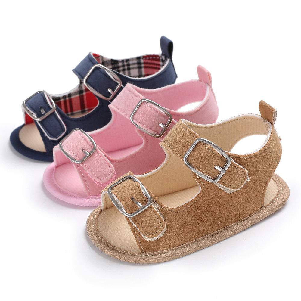 Cute Baby Sandals Classic Baby Boys Girl Summer Sandal Shoes Solid Baby Shoes Flat with Shoes
