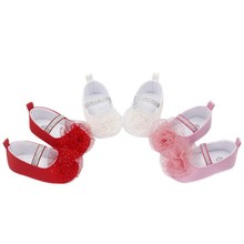 New Cute Little Princess Dress Shoes Baby Soft Bottom Non-Slip Sneakers Walker Toddler Multi-Color Optional