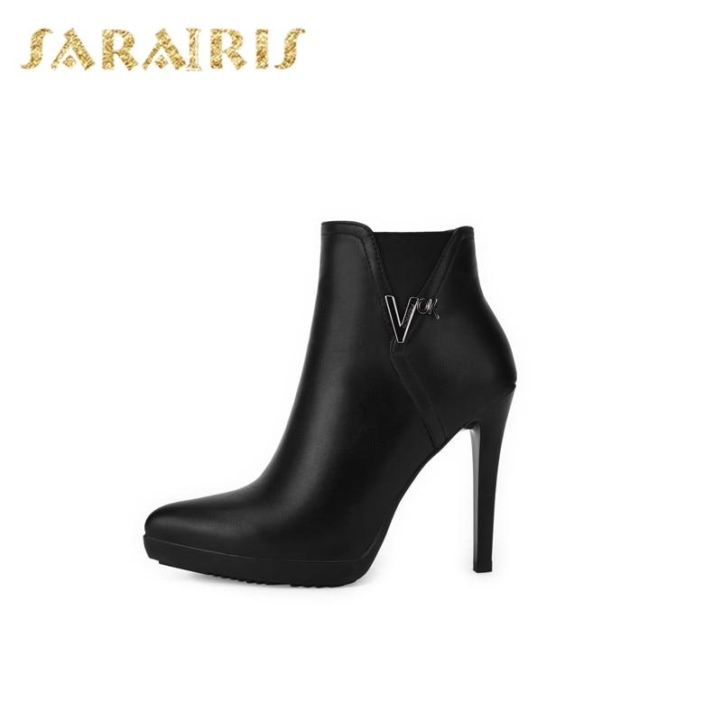 Mujer Calidad Altos De Sexy Cierre Dropship Plataforma Zapatos Negro  Botines Cremallera Moda Mejor Tacones Sarairis Rp48W 5257084b1e8f