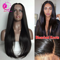 7A Straight 4x4 Silk Base Wig Peruvian Virgin Hair Gluelelss Silk Top Full Lace Wigs/Lace Front Human Hair Wigs With Baby Hair