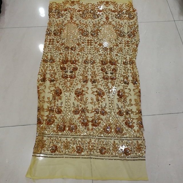 Aliexpress.com : Buy Gold Nigerian Lace Sequin Direct Selling ...