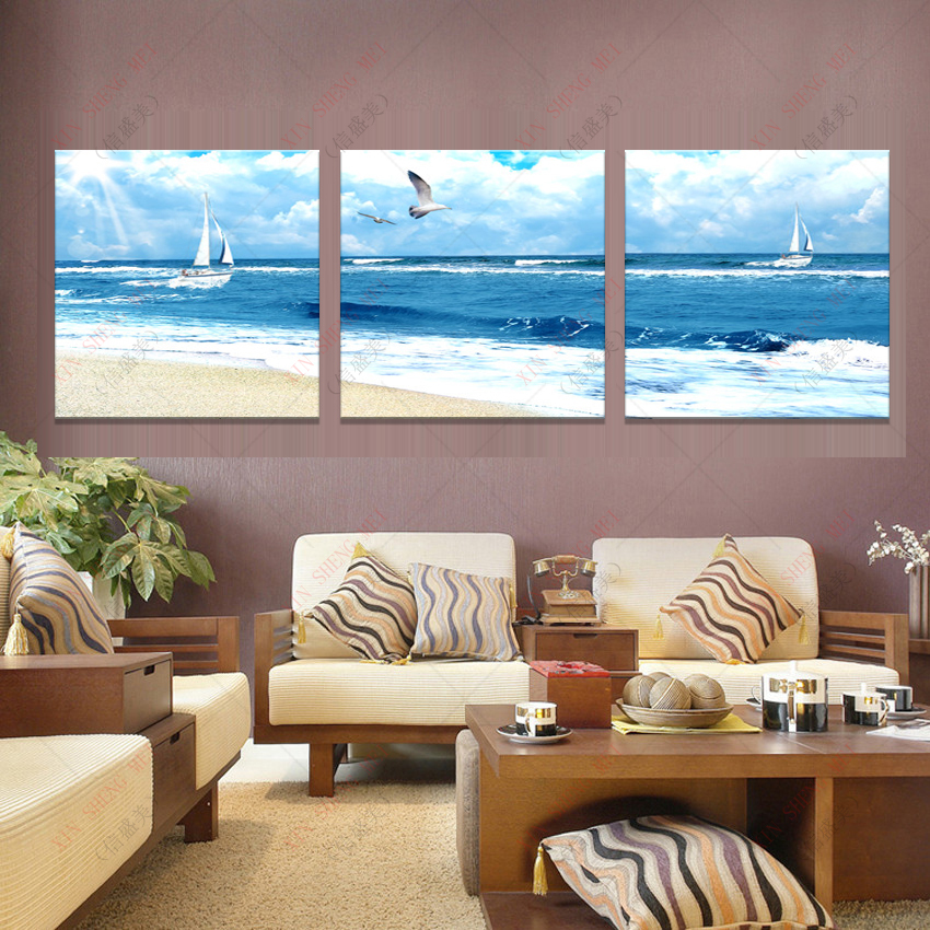 Modern oil paintings large wall decorative pictures - Landscape paintings for living room ...