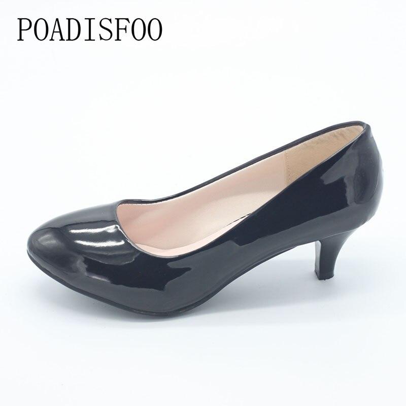Primavera Ronda Para Matte Verano Lss Zapatos black Baja Las 2017 Mujeres Nueva 8032 Tacón Alto Y Boca De Clásico Estilo Negro qRWOYpE
