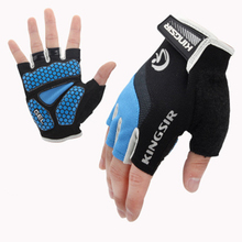 Gel-Padded Bicycle-Gloves Mittens Fingerless Without Men Mtb-Road