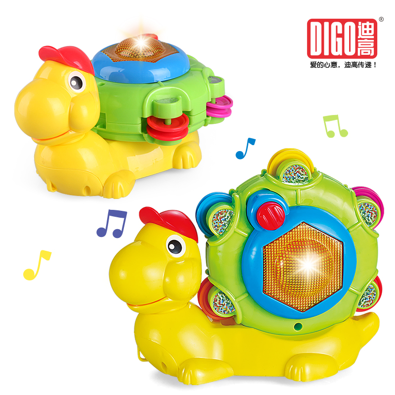 Snail intelligent music, sound and light toys, electric snail crawling 1-6 year old male and female toys aihao rainbow candy colored stick markers book page index flag sticky notes bookmark office school supplies stationery