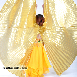 Image 5 - 2019 Hot Selling Popular Women Egyptian Belly Dance Isis Wings Golden Belly Dancing Wing with Telescopic Rod stick on sale