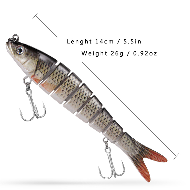Fishing Lures 14cm Sinking Wobblers Multi Jointed Swimbait Pike Lure Hard Baits Fishing Tackle for Bass Trout Pesca Isca Carp 3