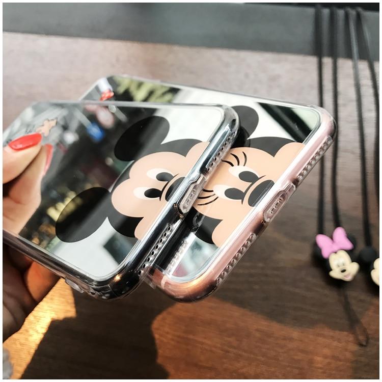 HTB1hPolinwKL1JjSZFgq6z6aVXab - Minnie Mickey Mouse Mirror Case for iPhone 6 s 6S X 10 7 8 Plus 6Plus 6sPlus 7Plus 8Plus SE 5S Cover silicone PTC 333