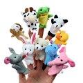 10 unids/lote Muñecos de Peluche Dedo Marionetas de Dibujos Animados de Animales Del Bebé Del Favor Muñecas Juguetes de Los Niños Del Cabrito Aprendizaje Juguetes educativos Regalo WW171