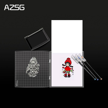 AZSG Stamp Block Transparency Acrylic pad for DIY Scrapbooking Clear stamps DIY Scrapbook photo album Decorative 20 colors set diy scrapbooking colorful craft ink pad handmade scrapbook photo album children students stamps toys
