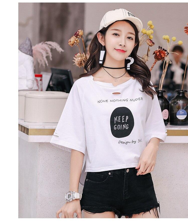 Coton T-shirt Femmes t shirt À Manches Courtes Casual t-shirts