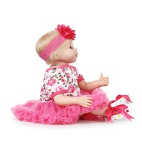 Soft Body Silicone Reborn Baby Doll Toys Lifelike Alive