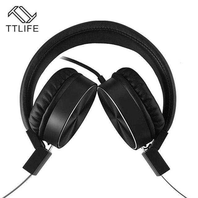 Moda Marca TTLIFE 3.5mm fone de Ouvido Controle de Volume do Fone de ouvido Super Bass Fones de Ouvido Com Fio Para Mp3 Player Computador fone de ouvido